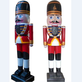 custom made outdoor christmas decoration fiberglass big nutcracker soldier