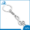 Custom manufacture promotional metal musical note shape key chain