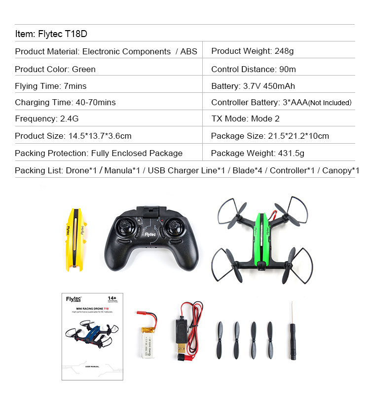 15. T18D_Green_Racing_Drone_with_Altitude_Hold_WIFI_FPV_RC_Drone