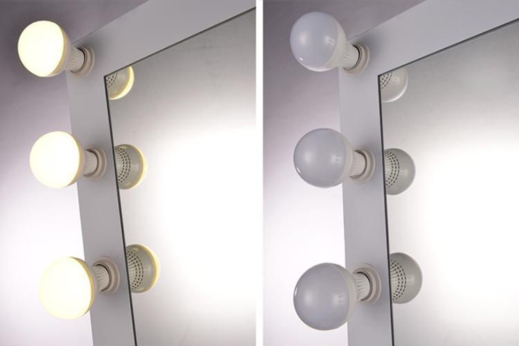 modieuze hollywood make up spiegel met verlichting op de rand buy product on. Black Bedroom Furniture Sets. Home Design Ideas