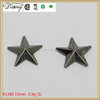 R1383 custom high quality metal zinc alloy star rivet studs for leather