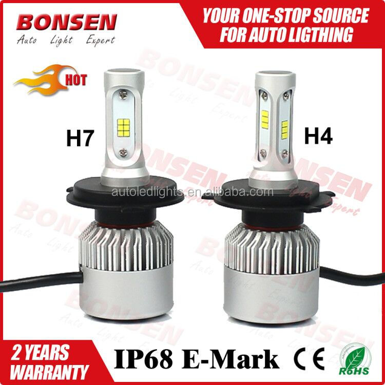 2017 the hottest S2 auto led headlight <strong>bulb</strong> replace auto motorycycle car H4 H7 H11 9005 led <strong>bulbs</strong>