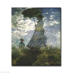 MYT Human Figure Picture Young Girl Umbrella Oil Painting On Canvas Wall Art