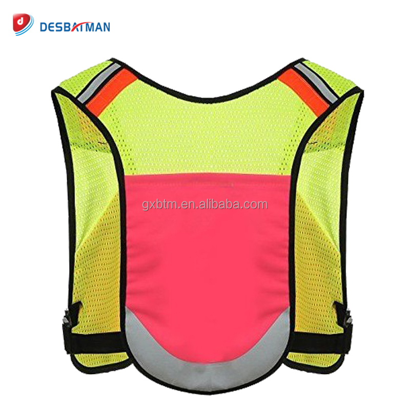 Reflective Safety Vest Running Cycling Light Night Jackets Visibility Sports Gear For Men and Women