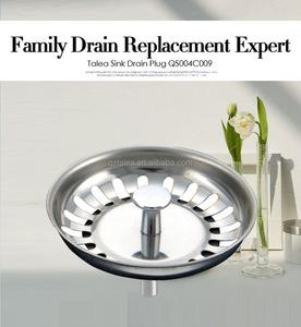 Stainless Steel Basket Drain Sink Strainer Plug Stopper