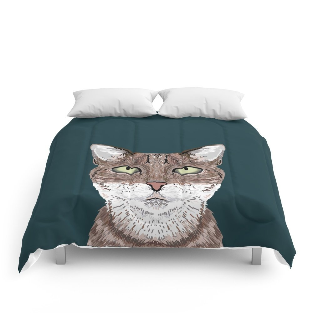 """Society6 Sidney - Tabby Cat Gifts For Cat Lovers Cat Ladies And Cat Person Gifts Perfect Cat Cell Phone Case Comforters Full: 79"""" x 79"""""""