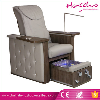 Luxury Crystal Looking Electric Foot Spa Chair Nail Salon Pedicure Chairs  With Water Massage