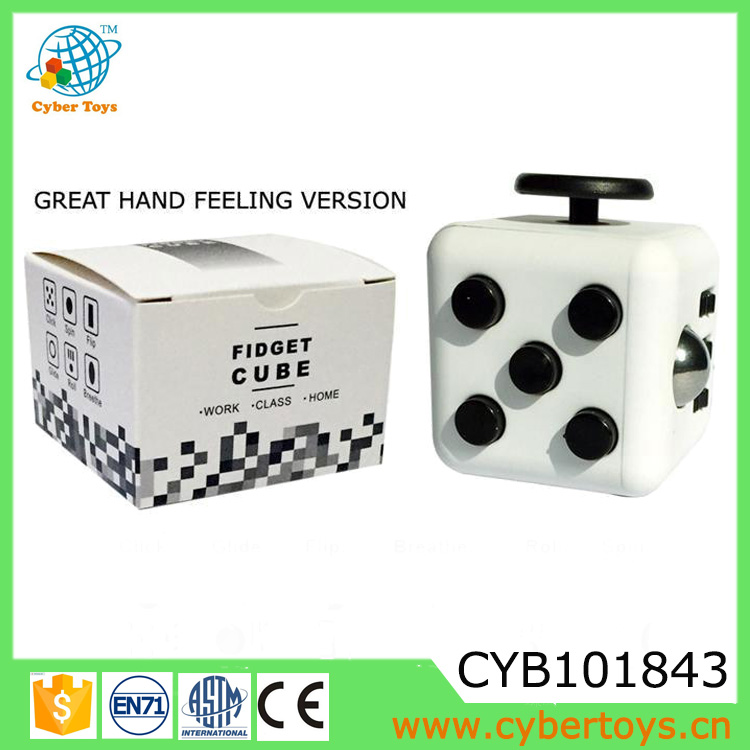 Newest plastic six sides release stress fidget cube toy suit everyone