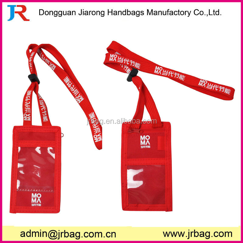 High quality zip bag card holder,sim card holder,olympics ID neck wallet