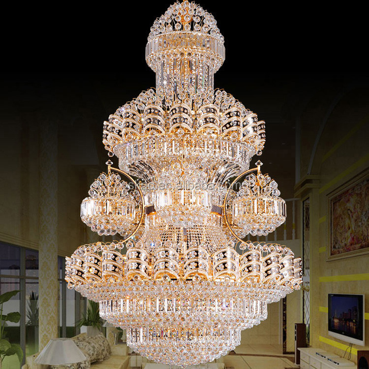 Luxury hotel decoration lighting empire style crystal chandelier 62061