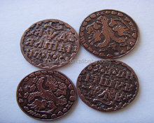 dark brown embossed plastic token,copper color ABS souvenir coin