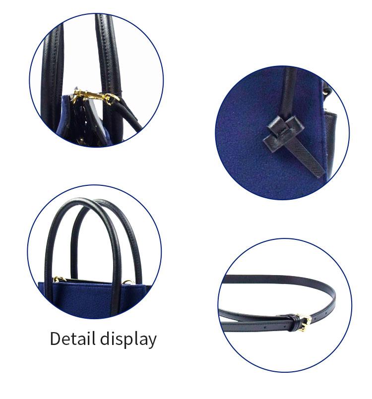 2019 China wholesale trendy blue woman shoulder bag genuine italian fashion leather handbag
