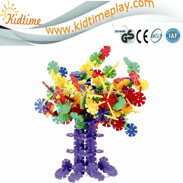 small size Multicolor Snowflake Building blocks Puzzle