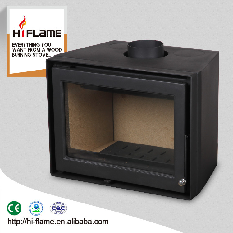 Hiflame 10KW cheap STEEL wood fireplace insert hearth and wood burning fireplace Q007