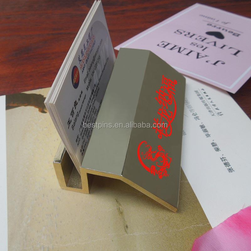 Company Creative Desktop Display Stands Metal Business Card Name ...