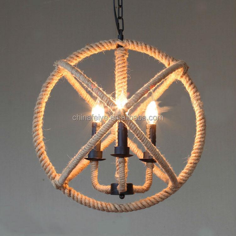 Industrial Design Hemp Rope Lights Handmade Lamps/pendant Lamp ...