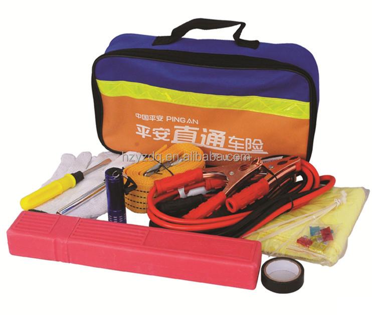 26pc Auto Automotive EMERGENCY TOOL KIT Highway Road Side Assistance Car Supplies Set
