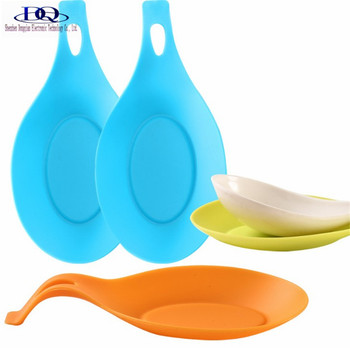 Kitchen Accessories Silicone Spoon Holder  Heat Resistant Flexible Silicone Spoon Rest 37g