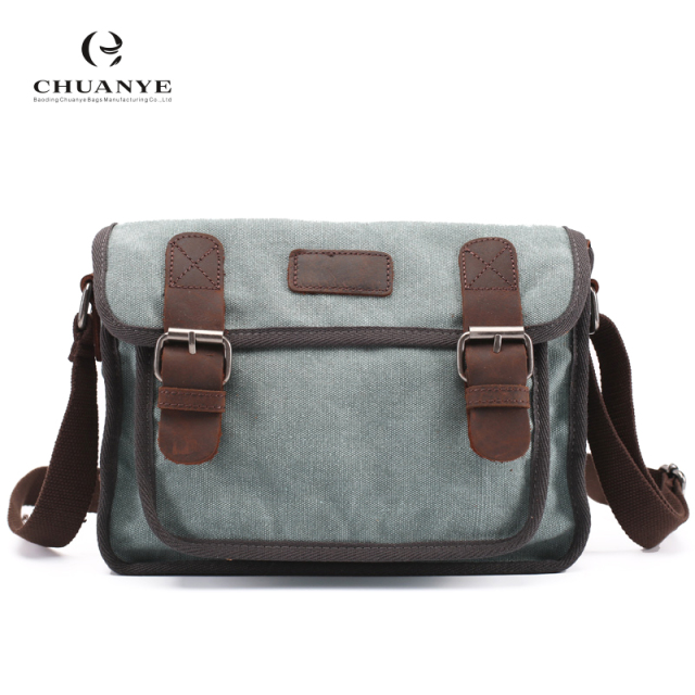 5c40d99b7b High End Designers Casual Vintage Genuine Leather Men Canvas Messenger Bag  Satchel