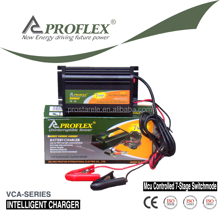 Battery charger 120v dc output 12v 7 stage automatic charging