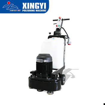 Floor grinder machine with double counter heads