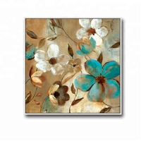 Classic flair home goods wall art canvas flower oil painting
