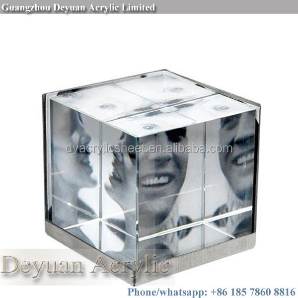 Custom blok acryl kubus fotolijst kader product id for Custom acrylic blocks