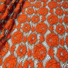Изысканная Цветочная вышивка, Водорастворимая ажурная кружевная ткань, износостойкая нигерийская фатиновая сетка для свадебного платья(Китай)