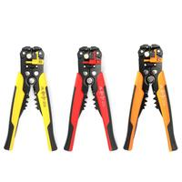 Self-adjusting Cable Cutter Crimper Wire Stripper 3 in 1 Multi Pliers for 0.2~6.0mm Wire Stripping Cutting Crimping 10-24 AWG
