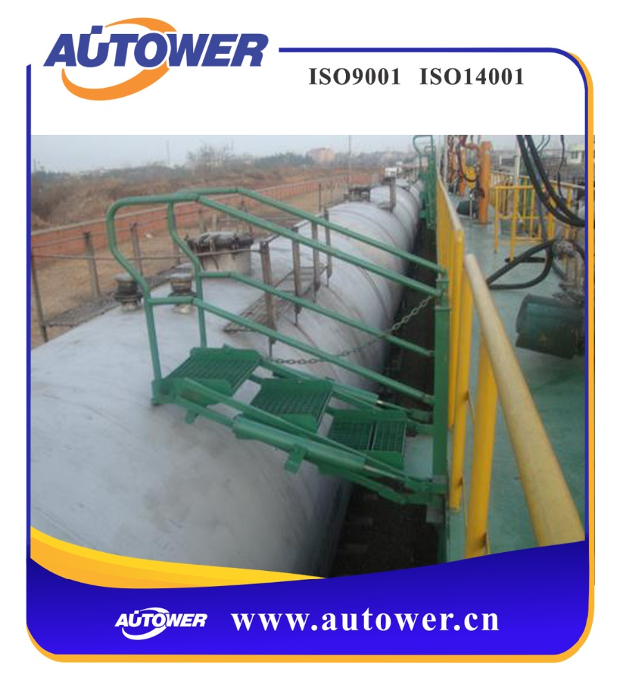 aluminum combination ladder Industrial used at tank farm loading unloading platform easy operation, safety protection