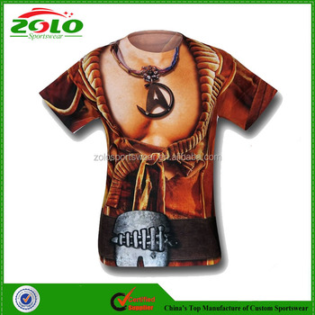 New Design Round Neck Men's Sublimation Printing Running Shirts Custom Made