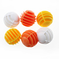 CRESTGOLF Plastic Pratice Golf Balls Gird Golf 12pcs Maximum Fly Distance is 20m