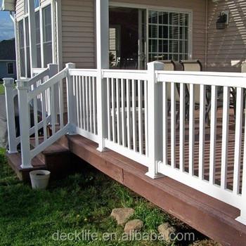 Uv Resistant Deck Railing Pvc Handrail Vinyl Decking Rail