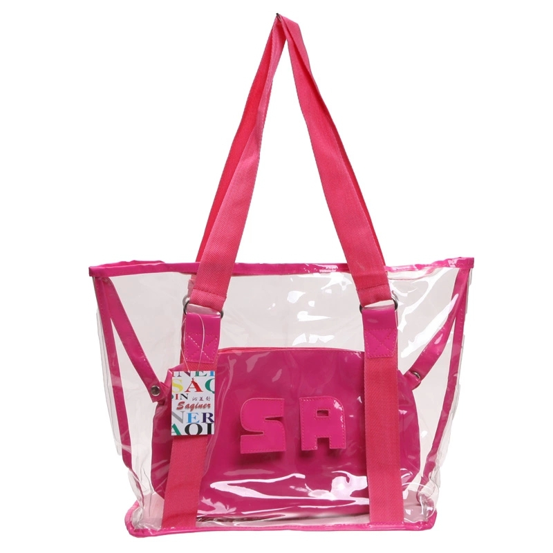 custom logo pink dot printing beach tote bag(SD-BB-016)