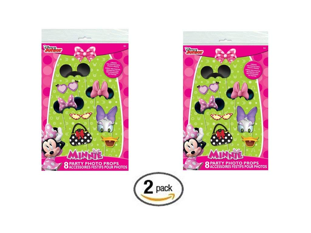 Minnie Mouse Photo Booth Props, 8 pc (pack of 2)