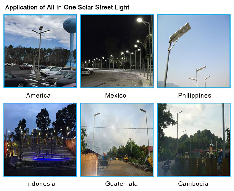 2019 new all in one solar energy street lights
