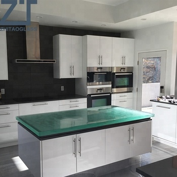 China factory favorable price fused glass kitchen tops