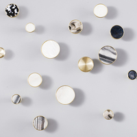 Fresh style marbled brass round knobs for drawers C-1270