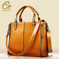 Women leather messenger bag crossbody business handbag free shipping