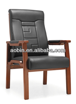 Solid Wood Bent Wood Frame Office Visitor Meeting Chair