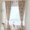 Printed flower curtain double layer design with eyelet