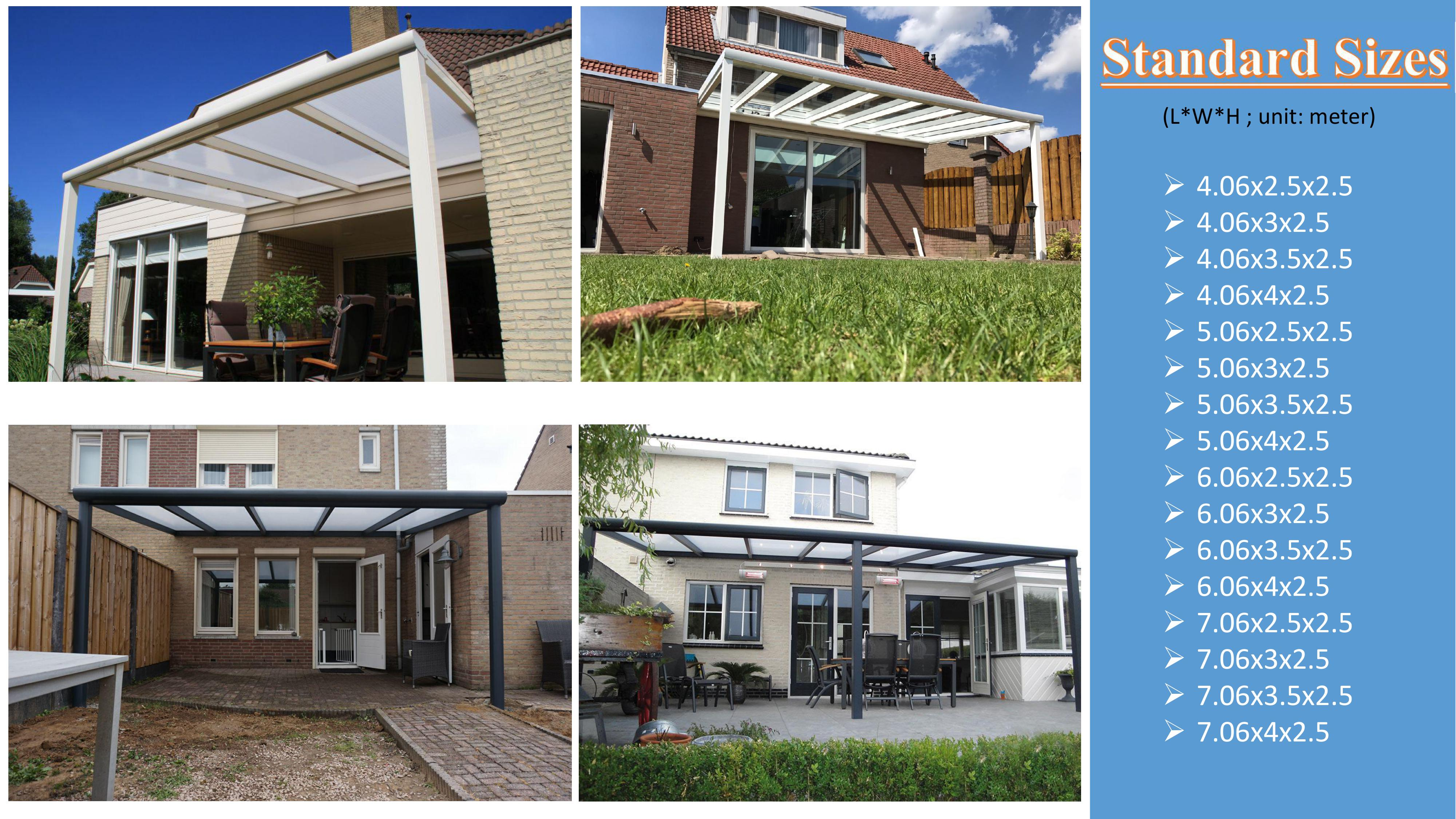 China supplier low cost Aluminum awning/ patio roof/ backyard pergola