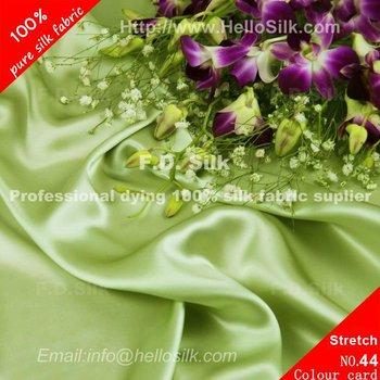 a198cbcceece37 Light Bean Green Silk Stretch Satin Fabric 16mm No.44 Color - Buy ...