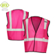 Wholesale security protection ansi pink reflective safety vest