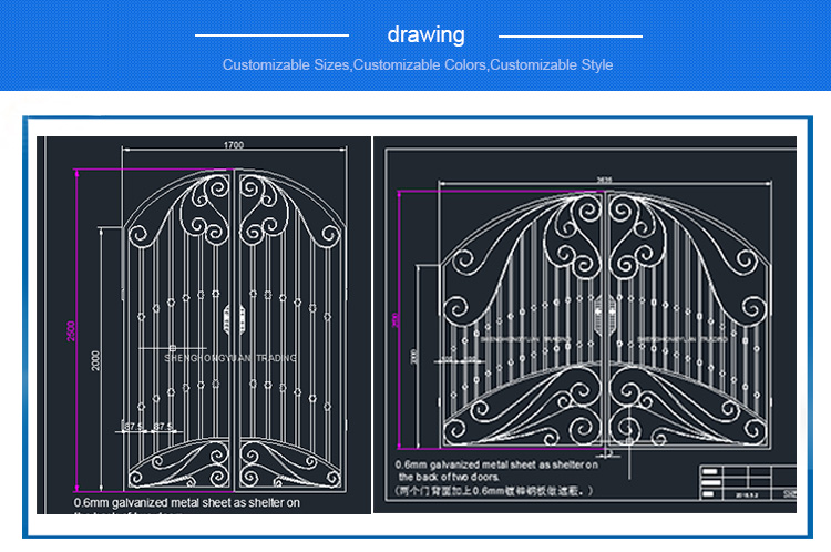Wrought Iron Gate House Gate Designs Iron Gates For Sale - Buy Iron Gates  For Sale,Iron Gate Designs Simple,Iron Gate Design Product on Alibaba com