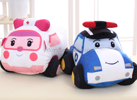 Stuffed small car plush toy custom made likeable baby car doll toys