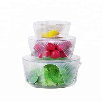 Reusable Silicone Food Fresh Wraps Seal Cover Stretch Wrap