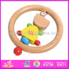 Hot sale high quality wooden mini rattle,music instruments wooden mini rattle,new and popular kids wooden mini rattle W07I006