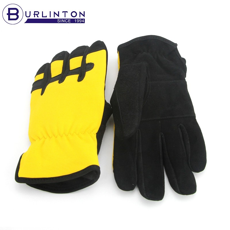 suede goat skin full protection machinic glove