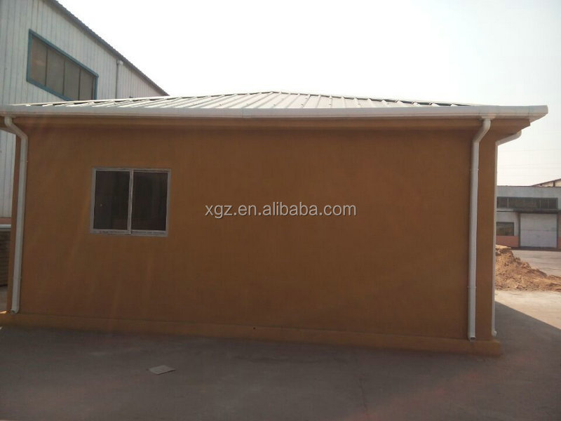Prefab house with precast foam cement wall panel